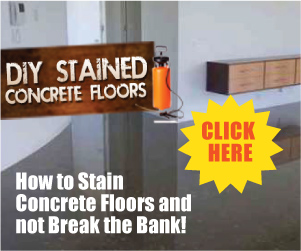 DIY Stained Concrete Floors